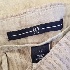 GAP Shorts - GAP Good Condition Tan Striped Short Shorts